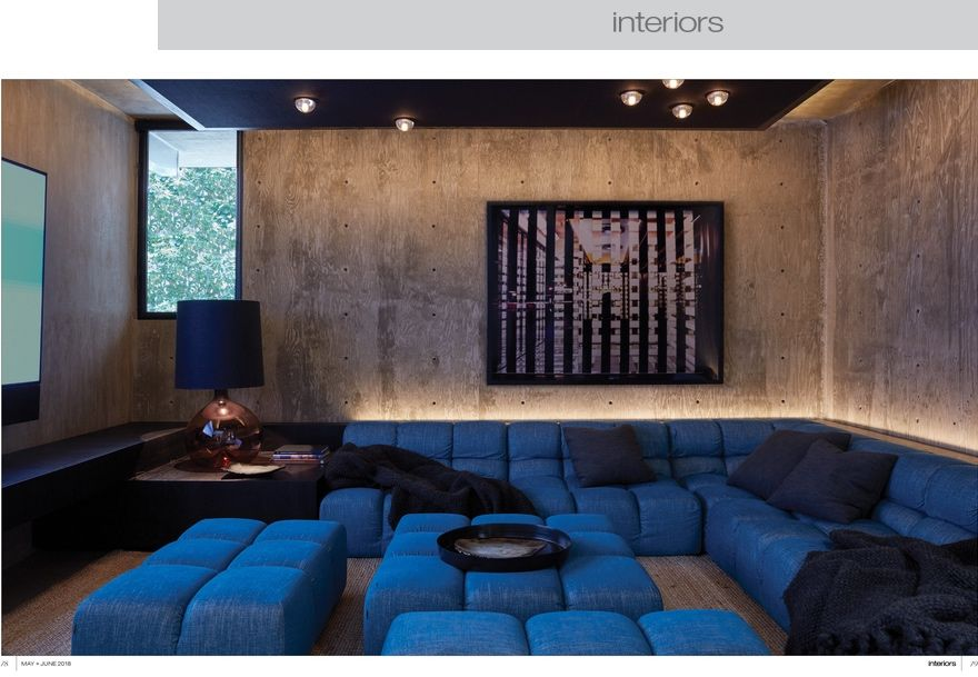Interiors Magazine May June 2018 Home Theater Seating Interiors Magazine Interior