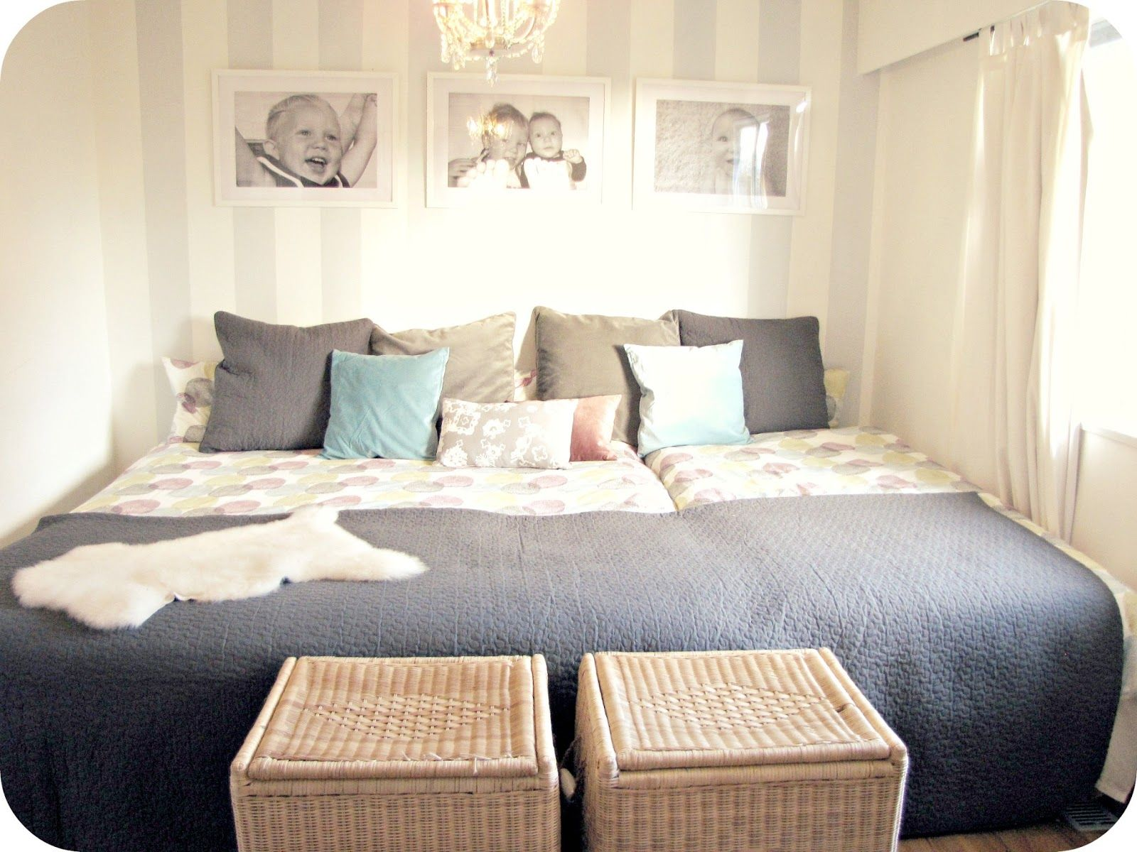 One big giant bed so there is always room love it for Large bedroom ideas