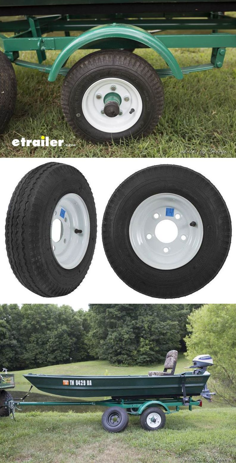 Kenda 480 400 8 Bias Trailer Tire With White Wheel 5 On 4 1 2 Boat Wiring Harness Straps Have A Small These Tires Are Just Right Great Price Look Awesome And Work Even Better