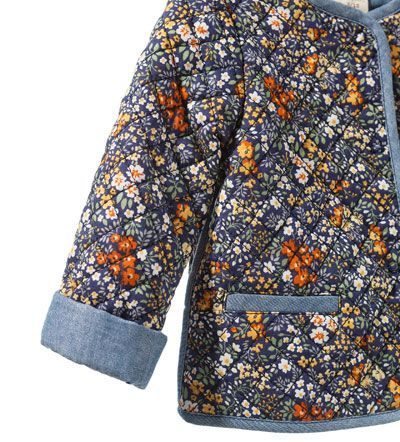 FLORAL PRINT QUILTED JACKET - Coats - Baby girl (3 - 36 months ... : baby quilted jacket - Adamdwight.com