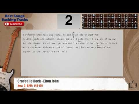 Crocodile Rock - Elton John Guitar Backing Track with chords and ...