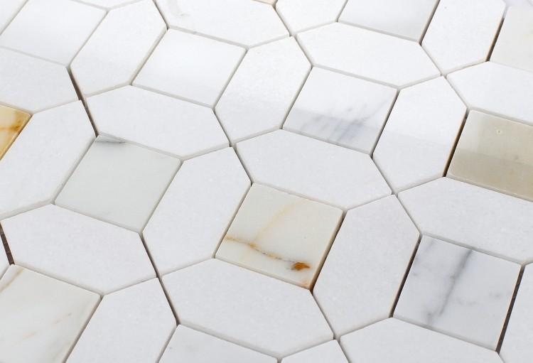 18x18 And 12x12 Tile Pattern Kitchen Floor Tile Patterns Flooring Patterned Floor Tiles