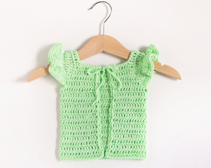CROCHET PATTERN - Crochet Baby Sweater Lime Cupcake - Baby Cardigan ...