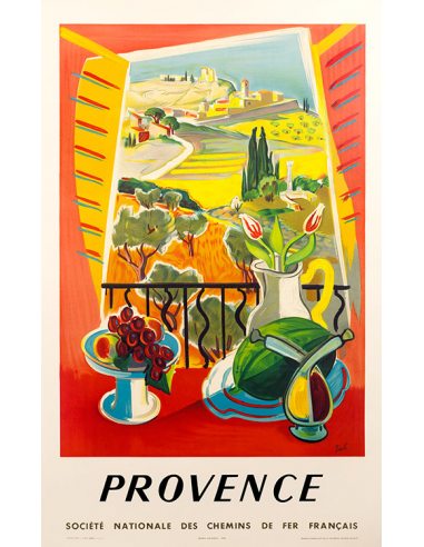 Provence By Tal Vintage French Travel Poster Later Printing Vintage French Posters Vintage Travel Posters French Poster