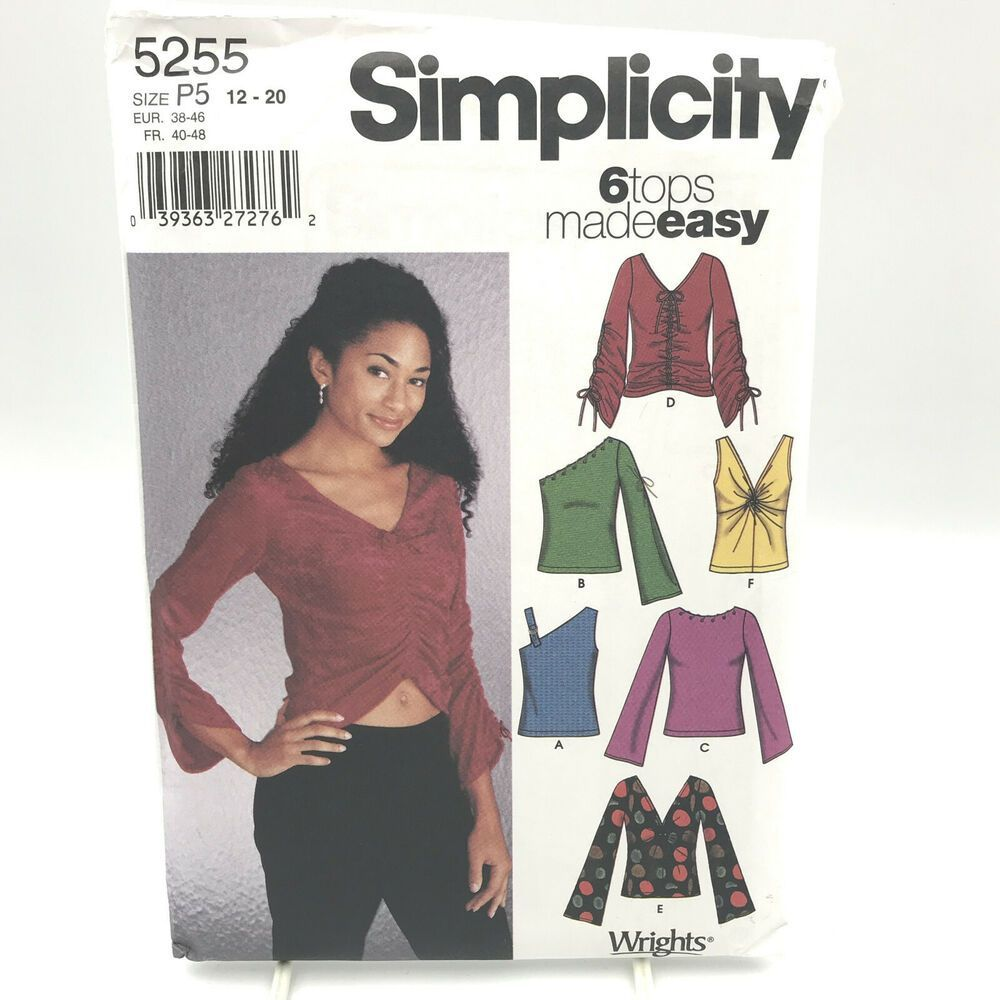 Simplicity 5255 Misses Plus Size Tops Sleeveless Crop Sz 12 20 Uncut Pattern #Simplicity    Sewing is good and very useful. You may be experienced or novice in this matter, but you can achieve good results in any way. Trust yourself. Let's watch a little video first, and we'll have more fun.:    How about forty-one patchwork pillow planting?  Kirkyama patchwork is one of the sewing techniques left to us by our grandmothers... #Crop #Misses #Pattern #Simplicity #Size #sleeveless #Tops #Uncut