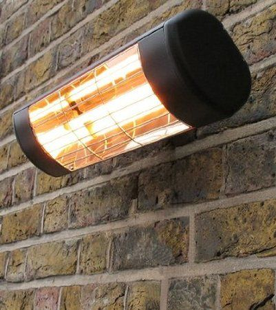 wall mounted electric infrared halogen patio heater weatherproof