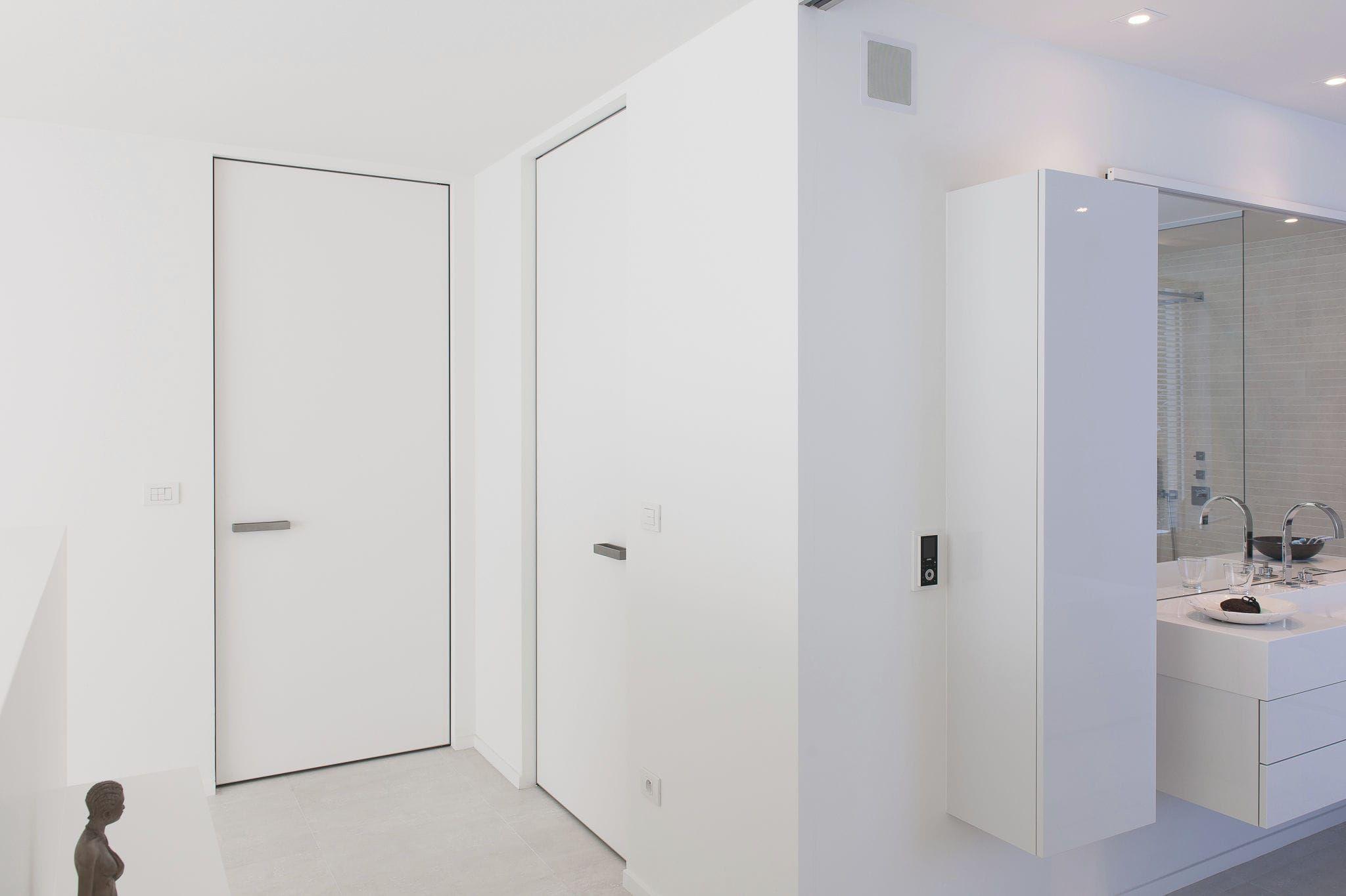 Two-way door / aluminum / HPL - IBO invisible door frame & two-way-door-hpl-aluminum-ibo-invisible-frame-designer_door ...