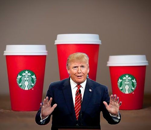 Donald Trump Thinks That Maybe Starbucks Should Be Boycotted For Ruining Christmas #Divertissement - http://goo.gl/H0O86L