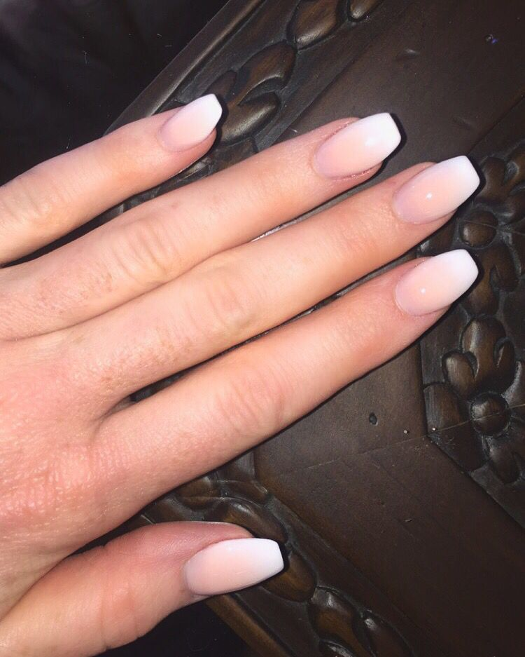 French Ombre Coffin Nails Nail Swag Acrylicnailsideas Swag Nails Ombre Acrylic Nails Dipped Nails
