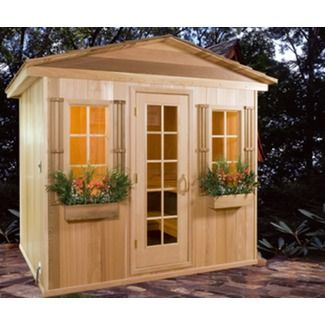 outdoor sauna for the patio backyard pinterest sauna hammam et spa. Black Bedroom Furniture Sets. Home Design Ideas