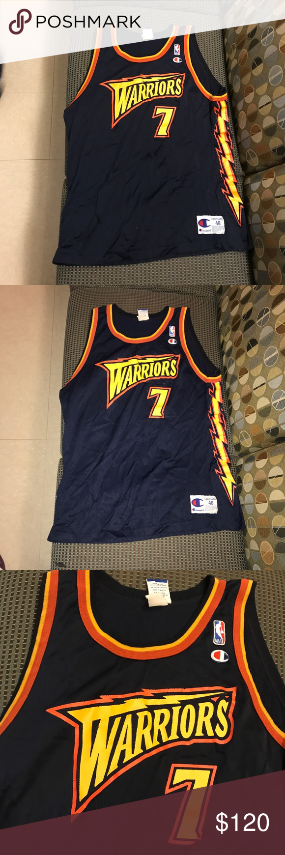 937e7ccc Antawn Jamison Golden State Warriors Jersey Antawn Jamison Golden State  Warriors GSW NBA basketball Champion Jersey