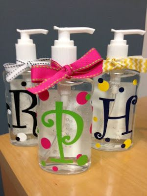Cute Personalized Hand Sanitizers Cricuit Vinyl Crafts Diy