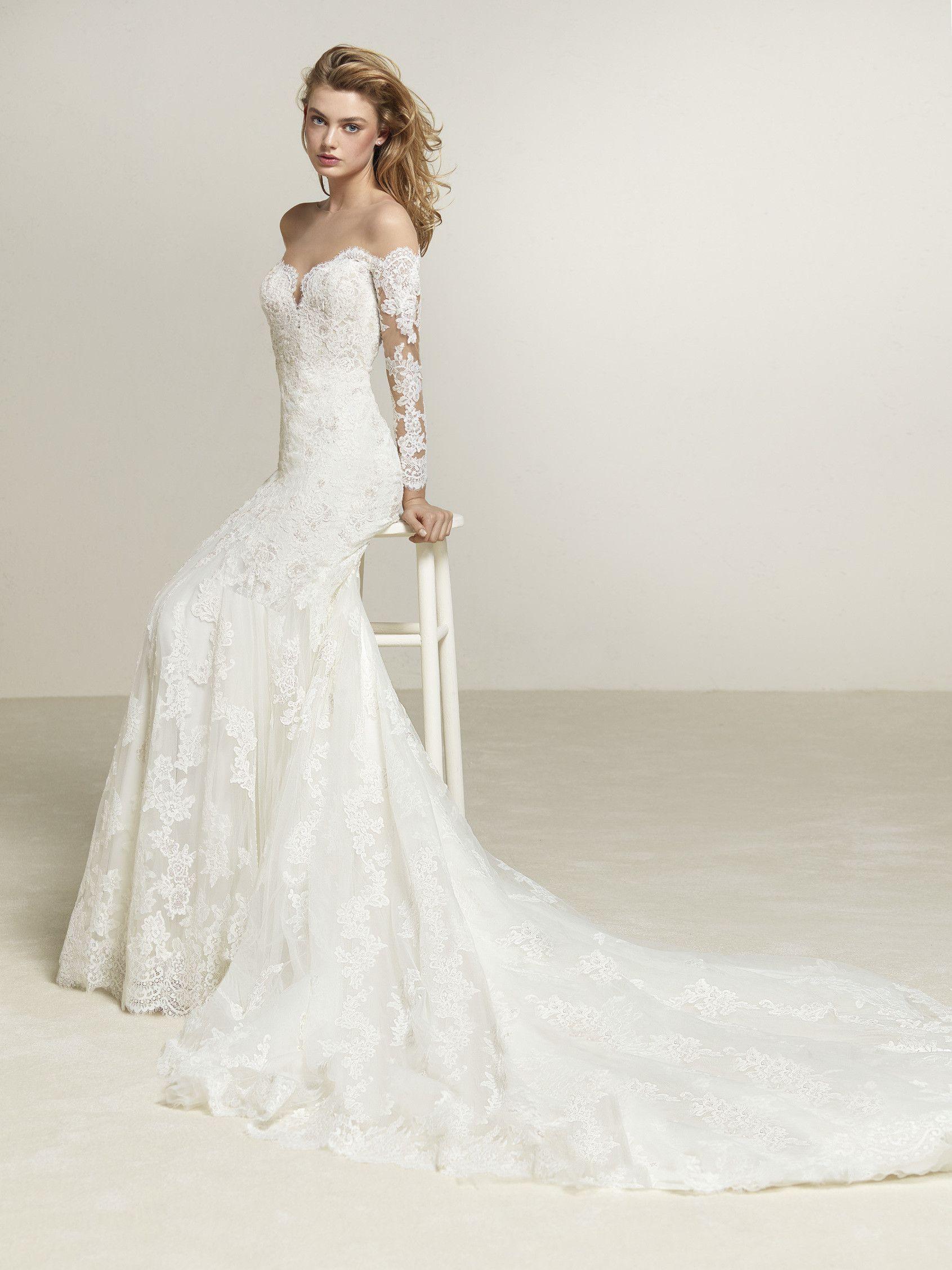 Vestido de novia tul encaje y brillo | VESTIDOS NOVIA | Vestidos de ...