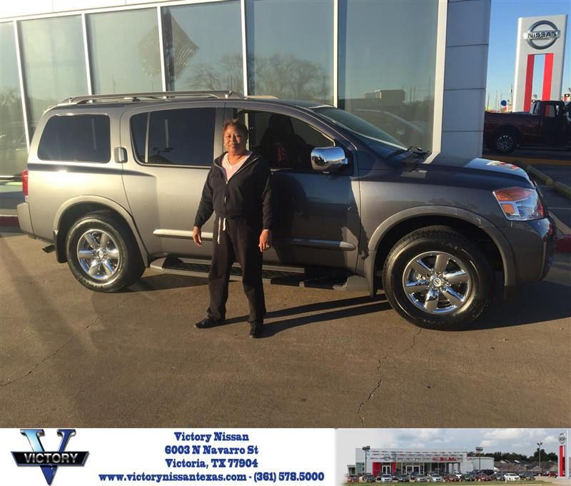 Victory Nissan Victoria Tx >> Congratulations Linda On Your Nissan Armada From Toby Williams At