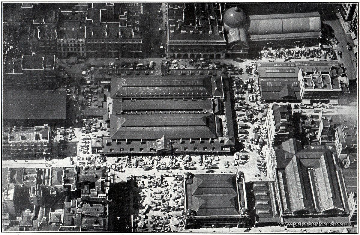 Aerial View of Covent Garden Market (1930) London market