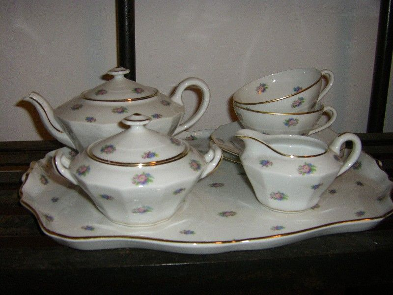 Limoges Tea Set | Limoges Tea Set Tray Mf328 Limoges Porcelain Tea Set Set  Includes Tray Gallery
