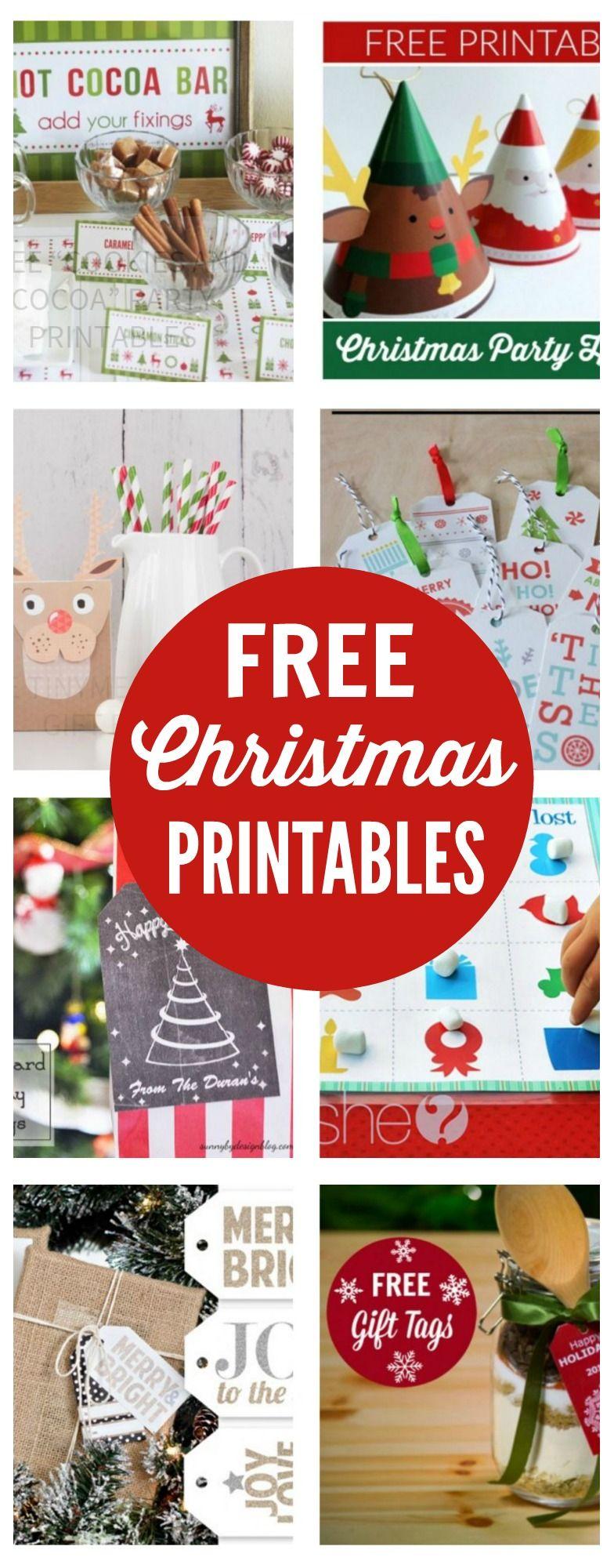 Ho ho holiday printouts to color - Free Christmas Printables