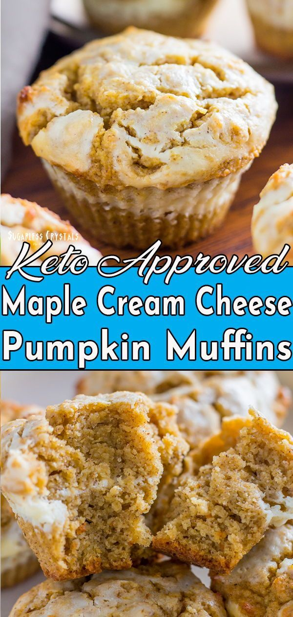 Maple cream cheese keto pumpkin muffins