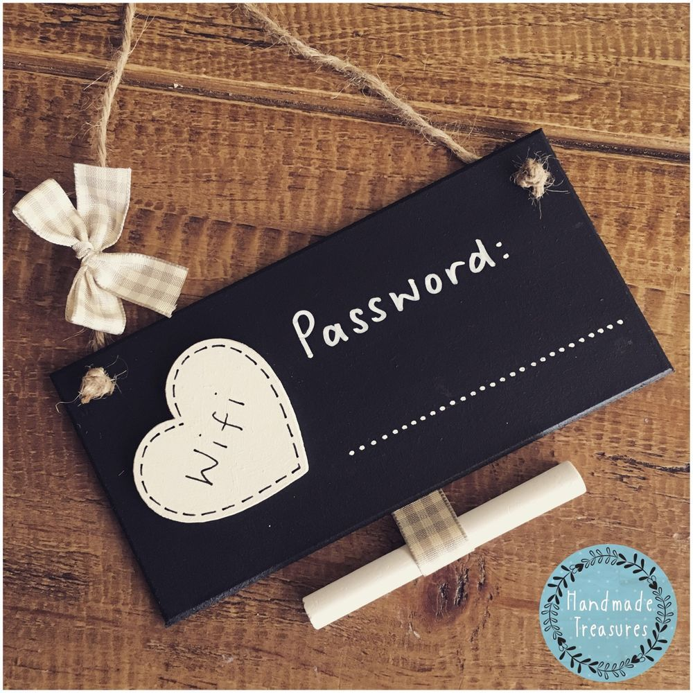 Details About Wifi Password Plaque Sign New Home Gift