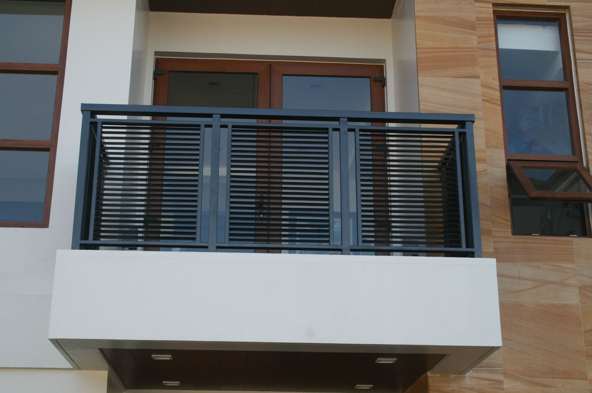 Modern balcony railing philippines pinteres for Terrace design with grills