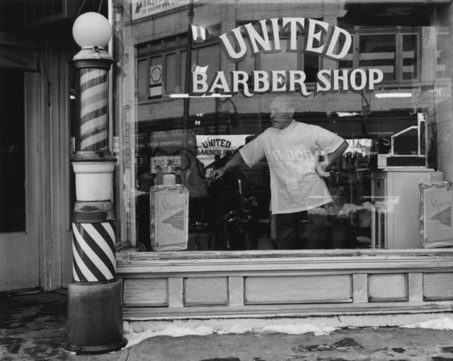 George Tice United Barber Shop Newark Nj Barber Shop Vintage