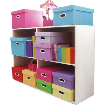 Caixas organizadoras coloridas! Amo...