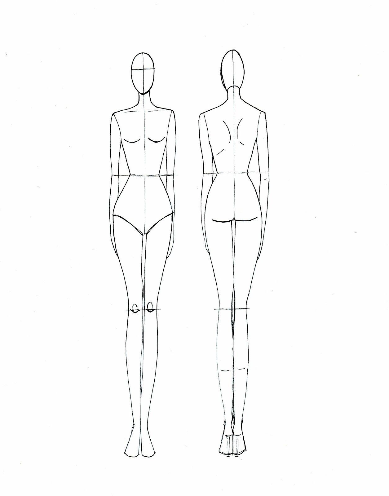 Female Template For Fashion Design Google Search Croquis