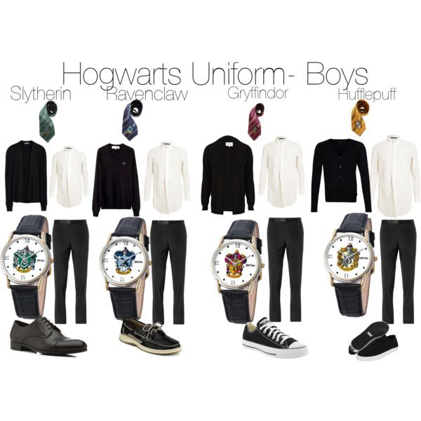 Hogwarts Uniform- Boys by booklover365 on Polyvore featuring polyvore, fashion, style, Converse, Sperry Top-Sider, Supra, River Island, Tiger of Sweden, Dolce&Gabbana and Play Comme des Garçons