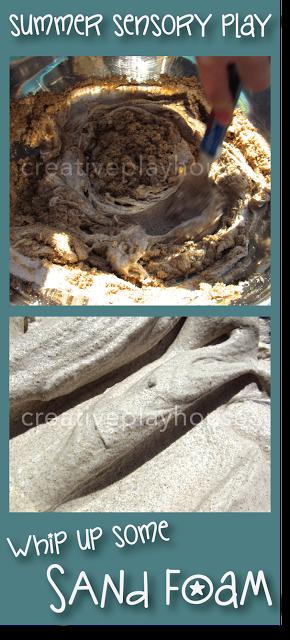 Summer Sensory Play - Sand Foam