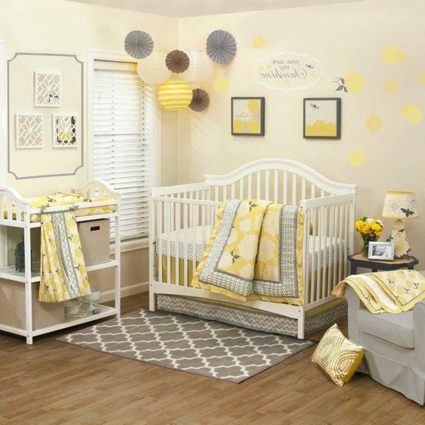 Bildergebnis für kinderzimmer gelb grau | Babyzimmer | Baby bedroom ...