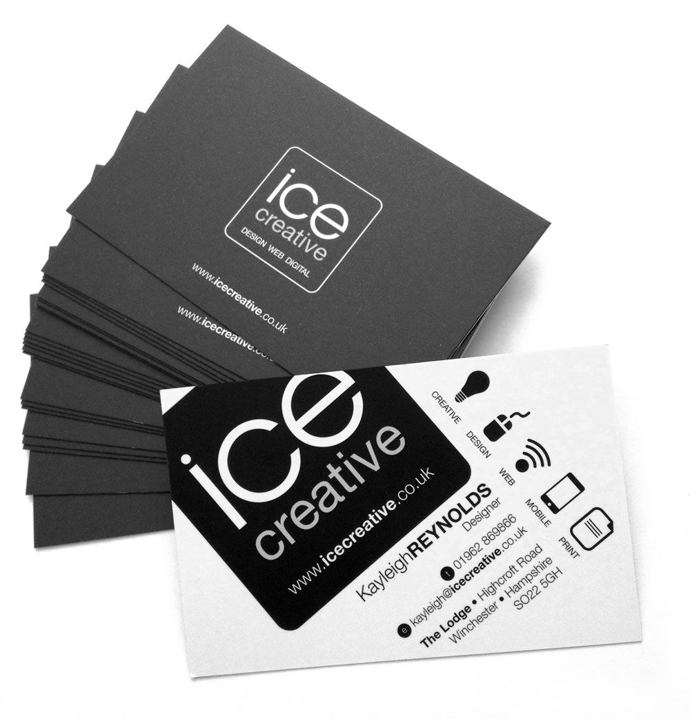 Our New Business Cards Arrived Today We Ve Re Branded Ice Creative For Our Brand New Move Watch This Space As We Roll Creative Design Creative Business Cards