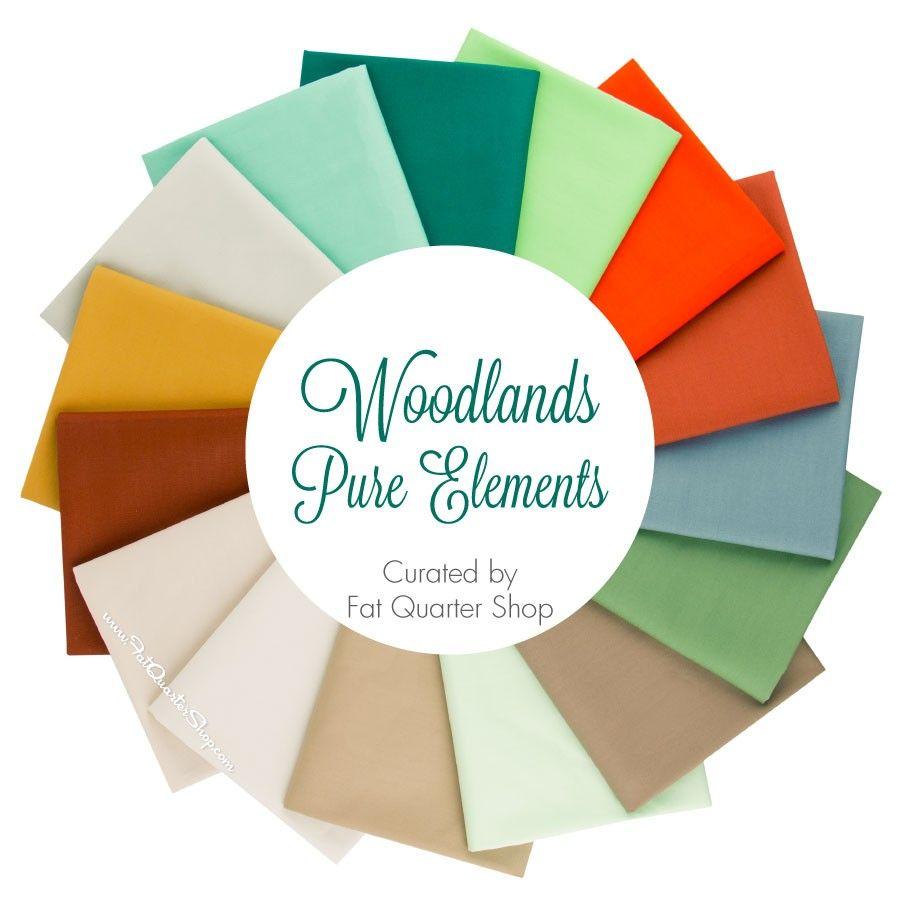 Woodlands Pure Elements Fat Quarter Bundle<BR>Curated by Fat Quarter Shop