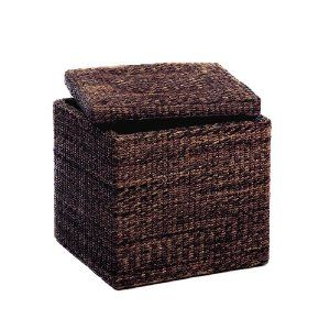Attractive Woven Cube Storage Ottoman, Mocha, $49 {recommended By Jen At I Heart  Organizing