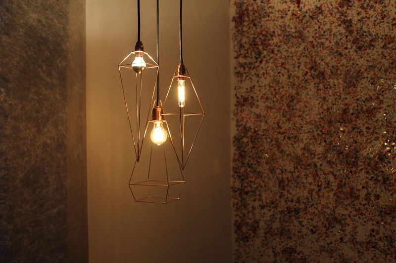 Hängelampen - Wire lamp - JfL 4/33 - ein Designerstück von vonBlau bei DaWanda