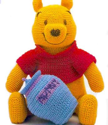 Crochet Winnie the Pooh -free crochet pattern | Free knitting patterns ƬⱤღ✿༻