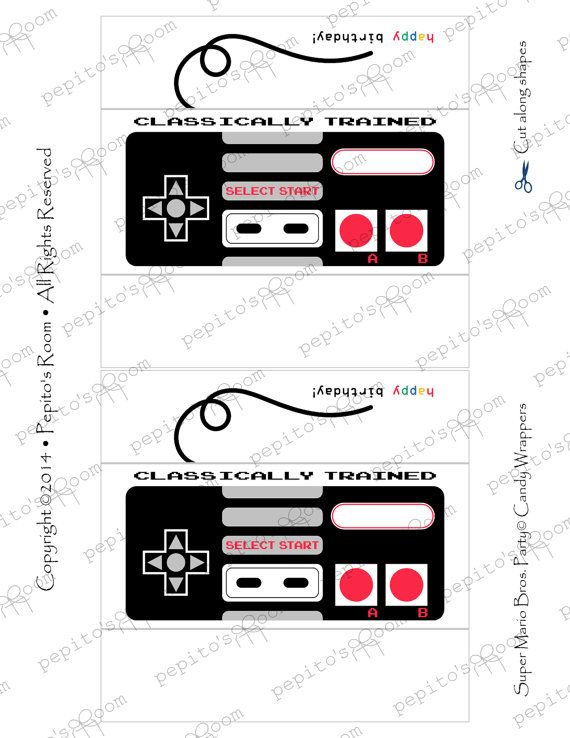 Print-INK Super Mario Bros. A La Carte Candy Bar Wraps