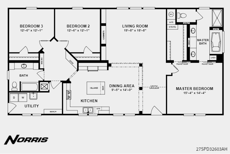 Clayton Homes Norris The Super 60 Clayton Homes House Plans Floor Plans