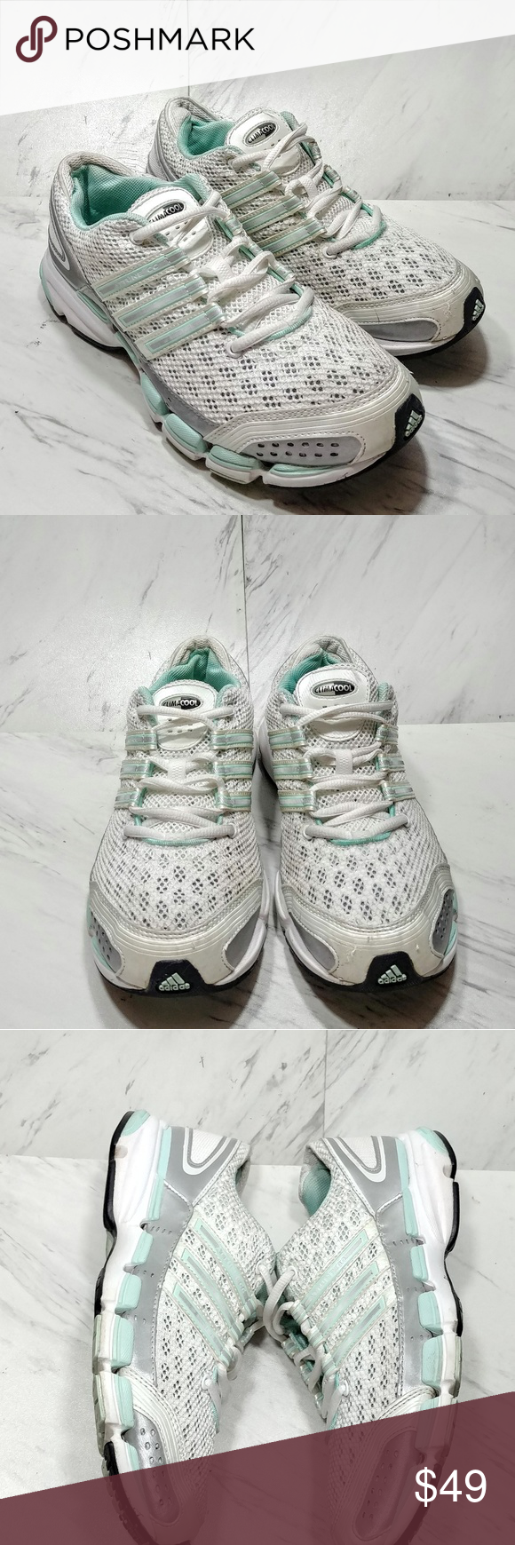 best website 06f88 8b571 Adidas Climacool Sneakers White and mint green. No signs of ...