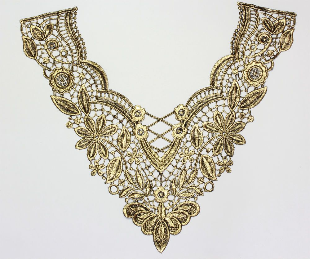 Embroidered Gold Chain