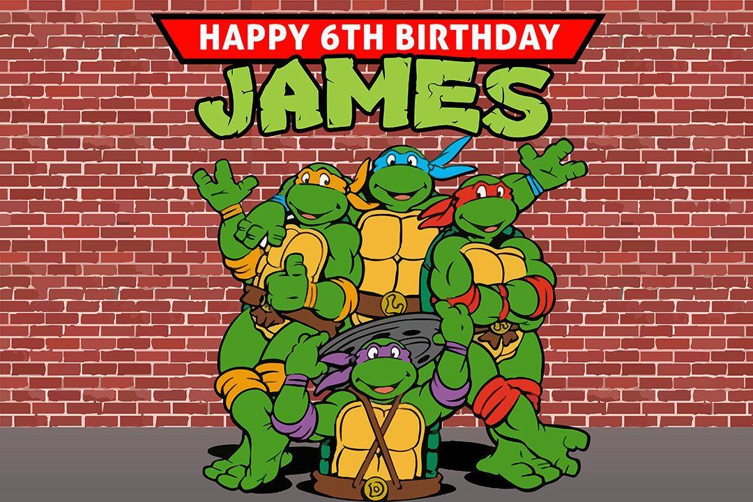 Teenage Mutant Ninja Turtles Backdrop Turtles Party Turtles