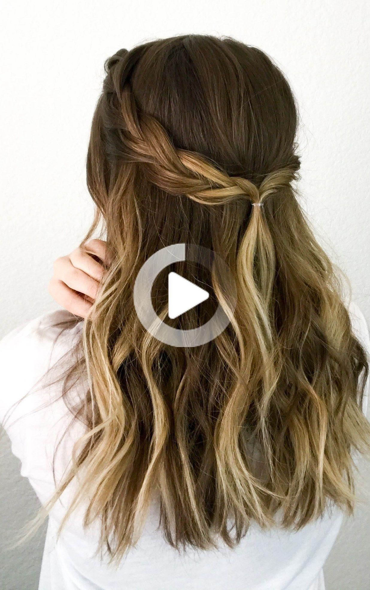 Easy Half-up Braid &