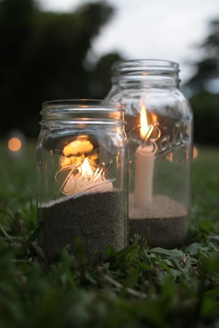 Inexpensive outdoor candle idea. Totally doing this next ... on