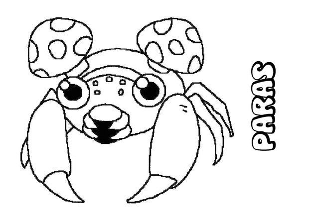 Paras Pokemon coloring page. More Bug Pokemon coloring sheets on ...