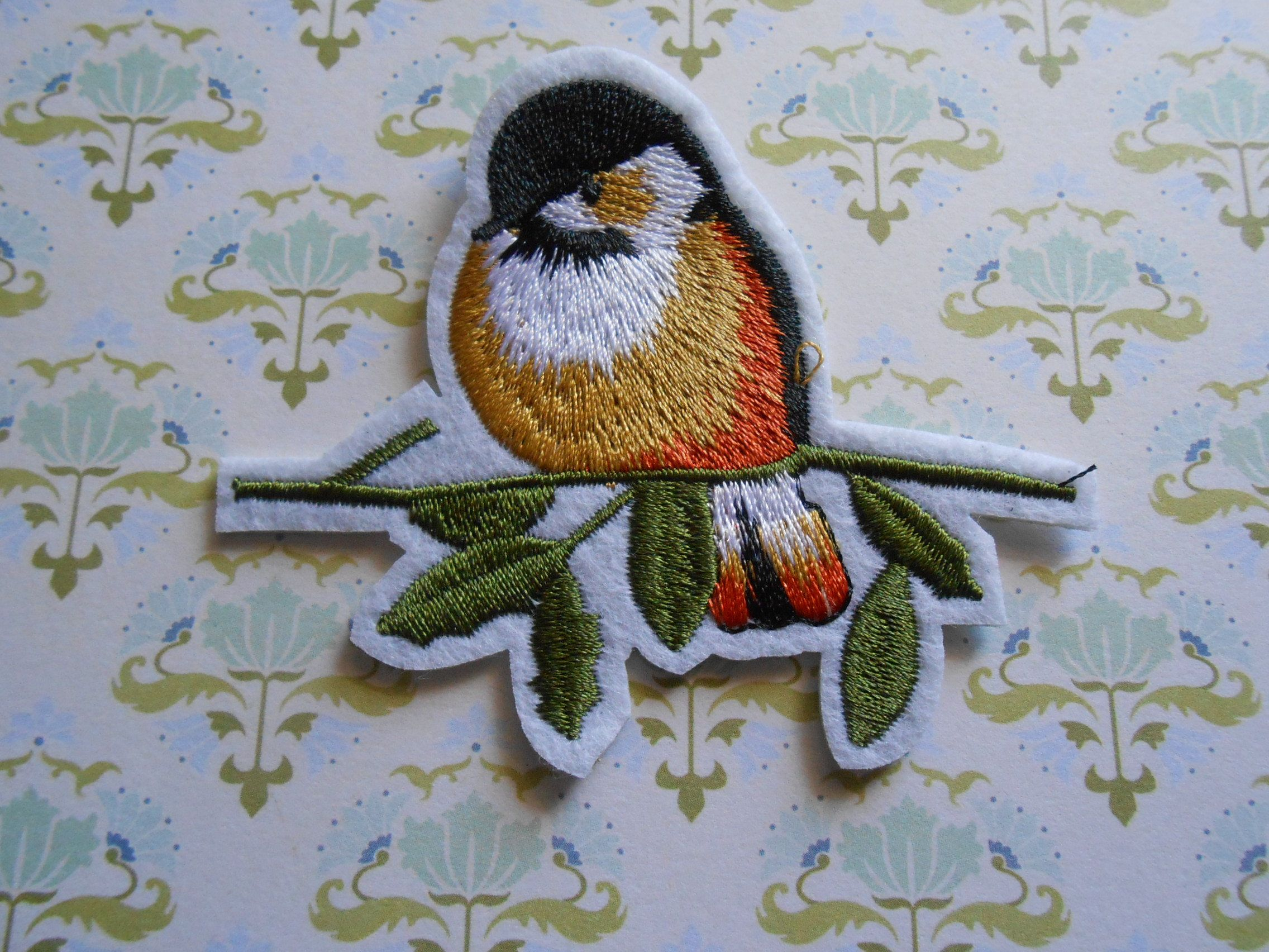 Iron on embroidered bird applique by lallehandmade on etsy patches