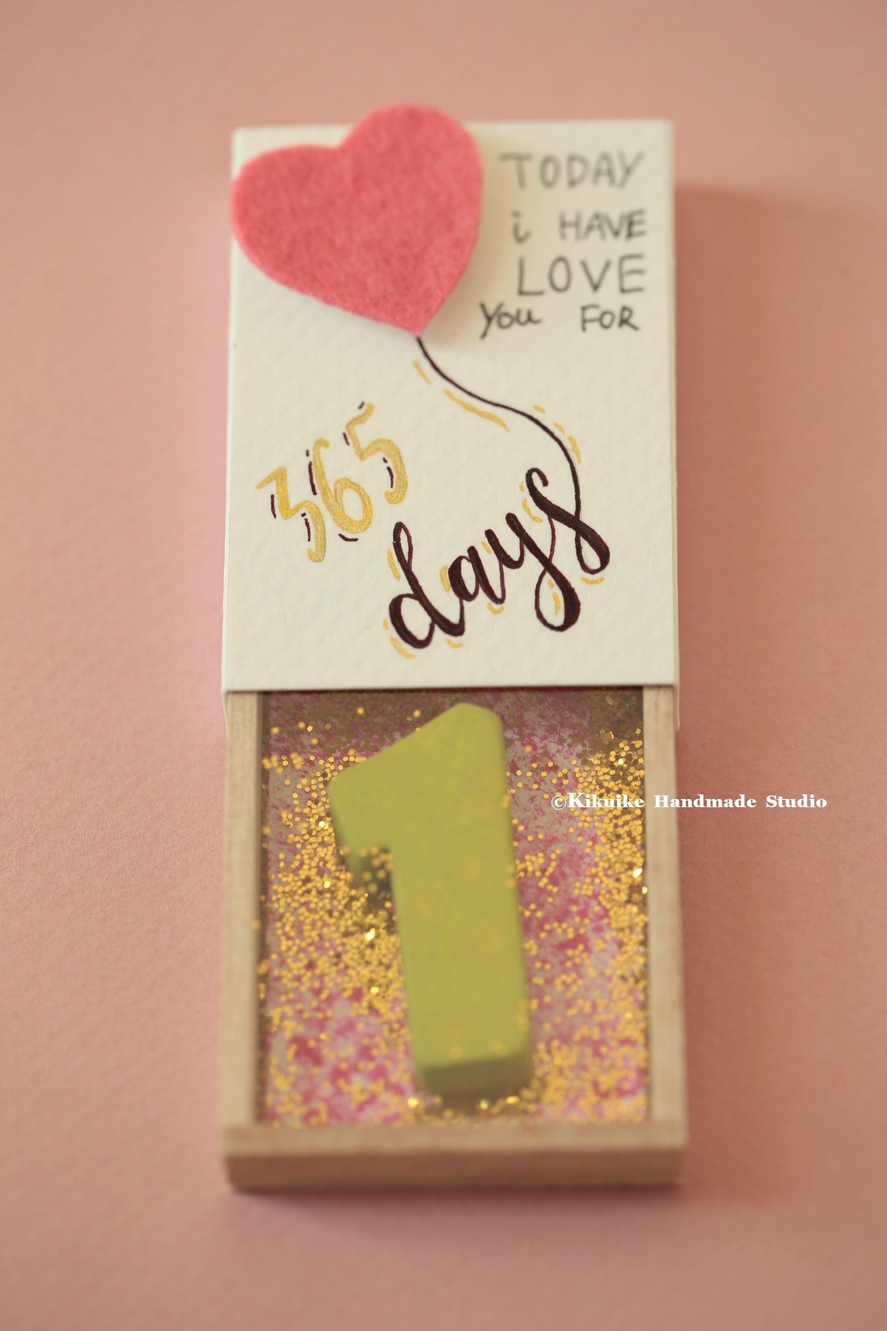 Anniversary Matchbox Anniversary Love Card Anniversary Gift
