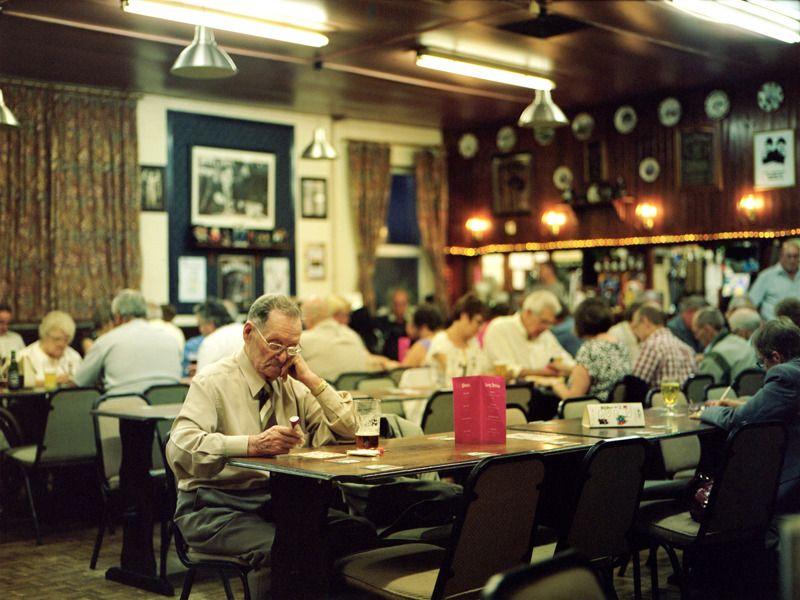 David Severn; Playing Bingo, alone - Boothy\'s Working Mens Club ...