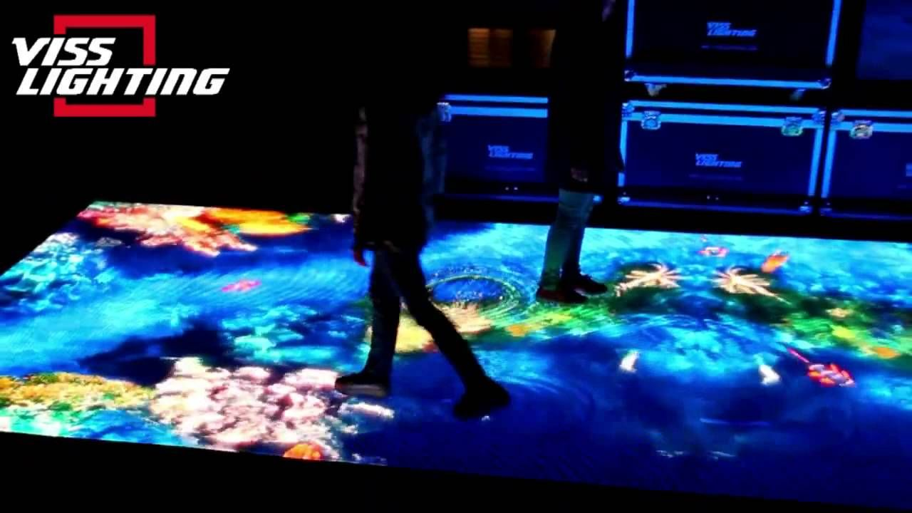 Interactive Led Floor Screen From Www Visslighting Com
