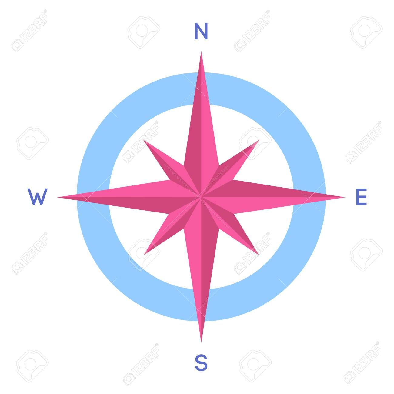 Compass Icon Compass With North South East And West Indicated