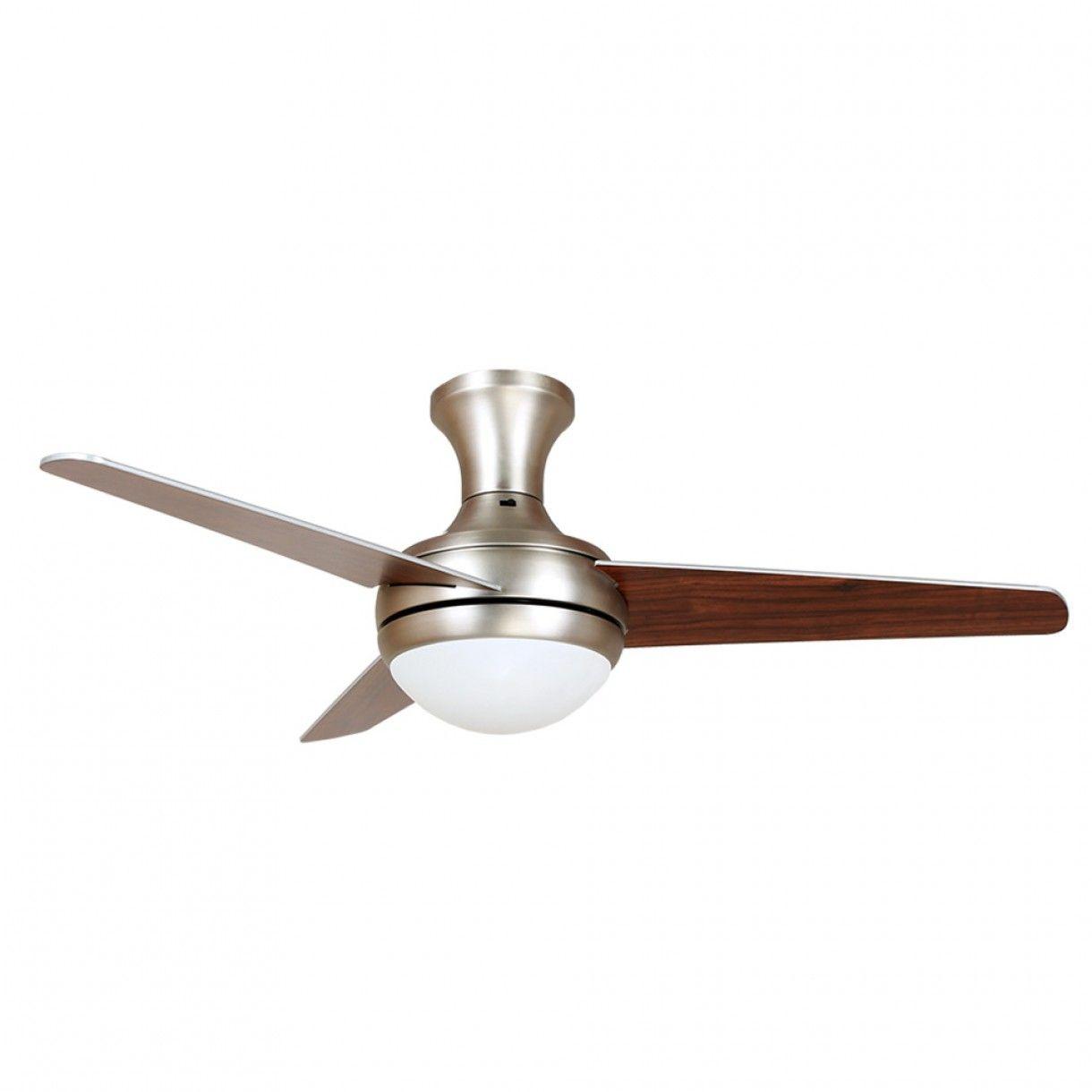 Sandridge Fan Matt Brushed Nickel With Silver Walnut Reversible Blades 112cm