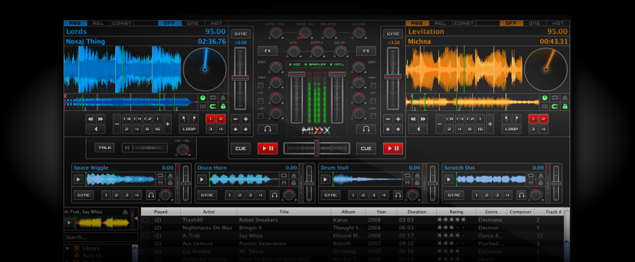Mixxx has everything you need to start making DJ mixes in